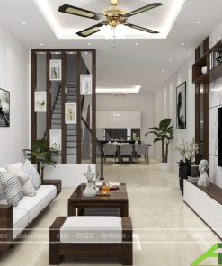 Thiết kế nội thất phòng khách anh Thắng 2